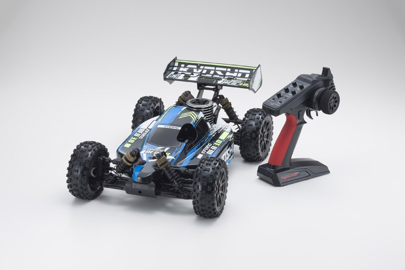 PACK Kyosho Buggy thermique rc inferno neo 3.0 bleu 1/8 Moteur 3,5 cc