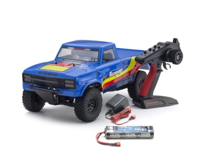 OUTLAW RAMPAGE 1:10 EP 2WD TRUCK (KT231P) T2 BLEU READYSET