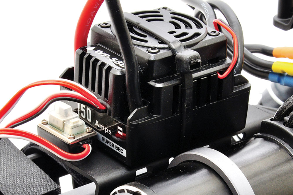 PACK HOBAO HYPER MT SPORT PLUS Monster truck Brushless 150 AMP LIPO 4S CHARGEUR (gris)