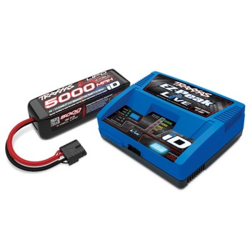 PACK CHARGEUR LIVE 2971G + LIPO 4S 5000MAH 2889X PRISE TRAXXAS