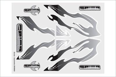 ORION Internal Graphics set Smoke black/white ORI59051
