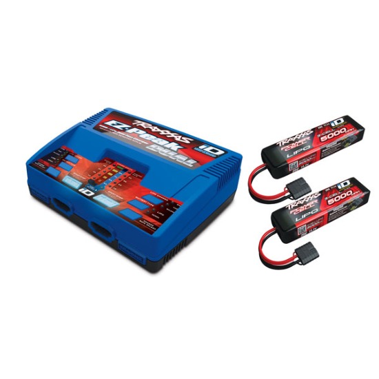 PACK CHARGEUR 2972G + 2 x LIPO 3S 5000MAH 2872X PRISE TRAXXAS