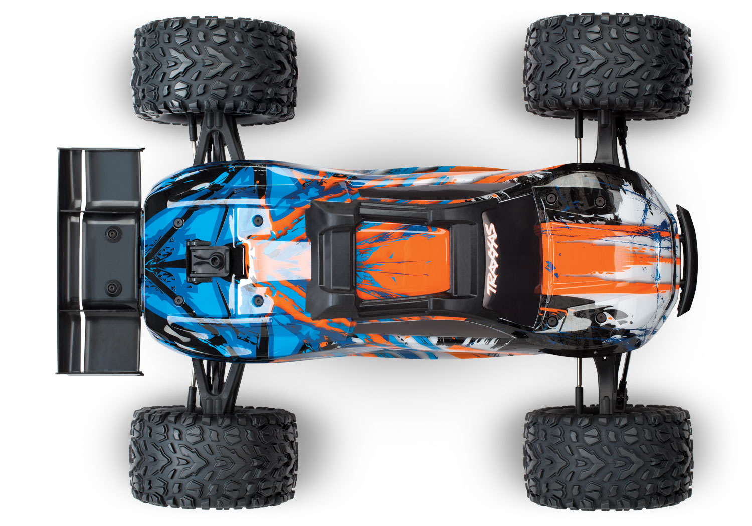 TRAXXAS E-REVO - 4x4 - ORANGE - 1/10 BRUSHLESS - TSM - SANS AQ/CHG