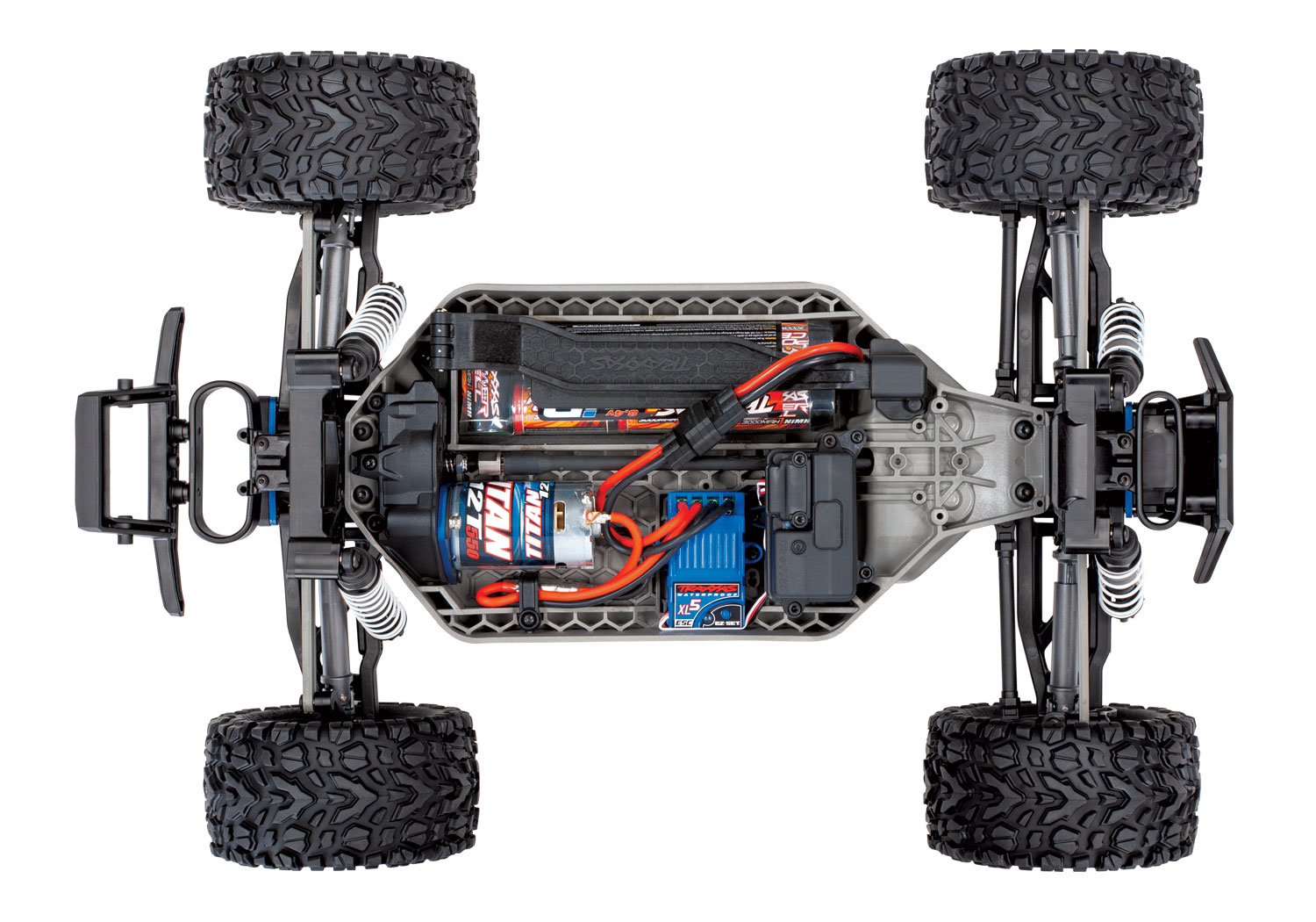 TRAXXAS RUSTLER- 4x4 - ROUGE - 1/10 BRUSHED RTR