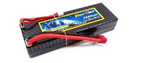 Accu lipo 2S 7,4V 5500mah 35C connecteur Dean hard case