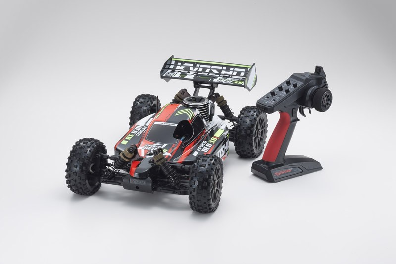 PACK Kyosho Buggy thermique rc inferno neo 3.0 rouge 1/8 Moteur 3,5 cc