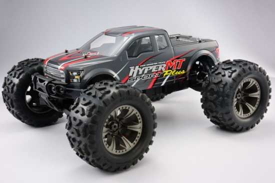PACK HOBAO HYPER MT SPORT PLUS Monster truck Brushless 150 AMP LIPO 4S CHARGEUR DUO (gris)