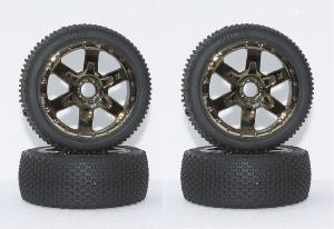 Roues buggy 1/8 Kyosho chromé (4)