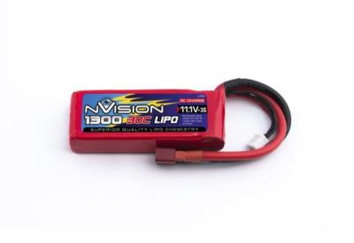 NVISION LIPO 3S-11.1V-1300-30C - DEANS