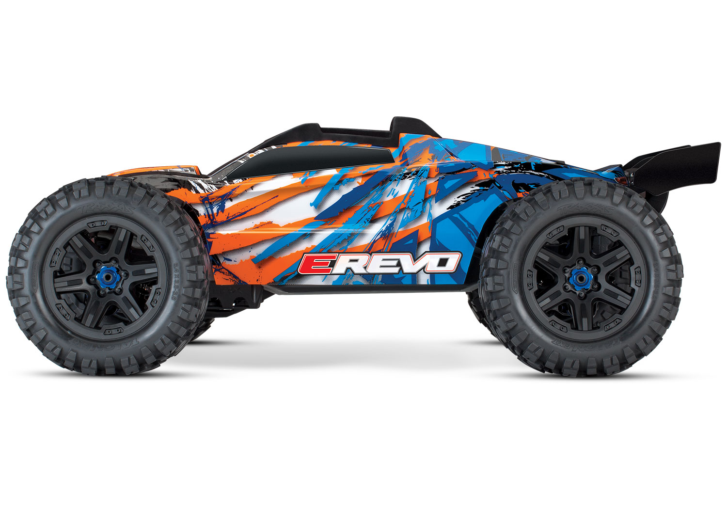 PACK TRAXXAS E-REVO - 4x4 - ORANGE - 1/10 BRUSHLESS - TSM - VERSION 4S/CHARGEUR