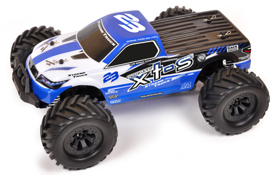 PACK T2M Monster truck rc brushless Pirate XTS 1/10 4WD 2 LIPO + CHARGEUR
