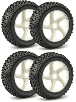 Roues buggy 1:8 blanc (4)