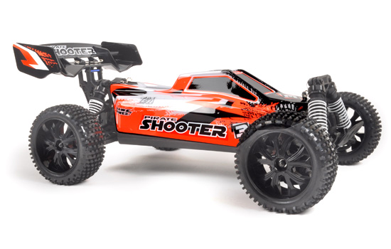 T2M Buggy électrique brushed rc Pirate Shooter BLEU 1/10 4 roues motrices