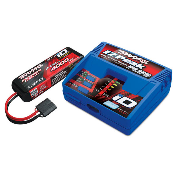 PACK CHARGEUR 2970G + 1 x LIPO 3S 4000MAH 2849X PRISE TRAXXAS