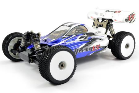 PACK HOBAO HYPER VS 1/8 RTR BUGGY bruhsless 4S Radio CR3P (Bleu)