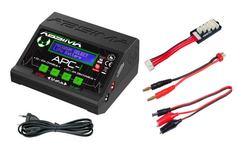 PACK ABSIMA APC-1 Chargeur rapide 80W + 2 Batteries LIPO 7,4V 5000mah 45C