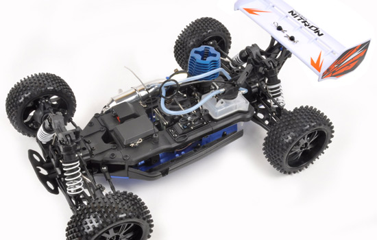 T2M Buggy thermique rc PIRATE NITRON 1/10 4 roues motrices (ORANGE)