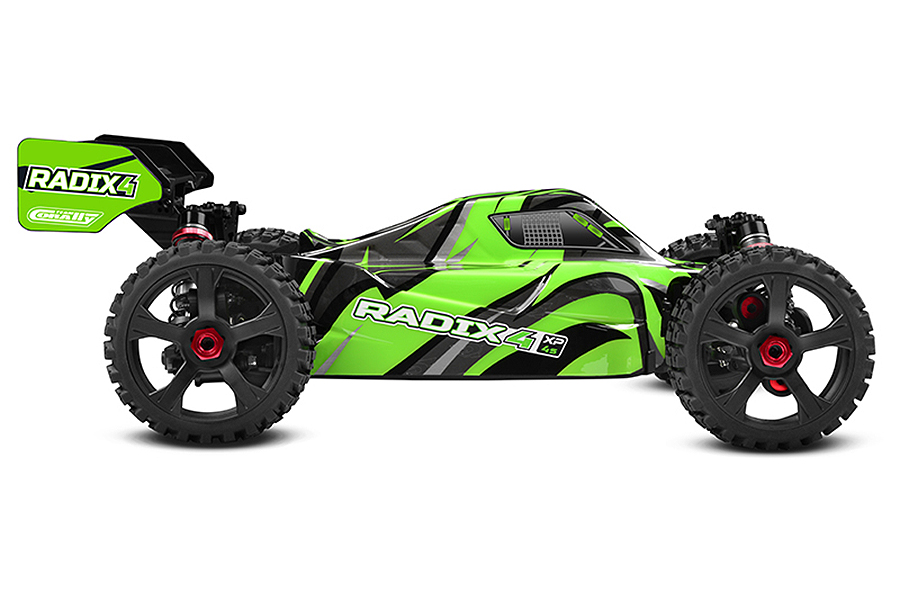 PACK ECO CORALLY RADIX XP 4S BUGGY 1/8 SWB BRUSHLESS RTR LIPO 4S & CHARGEUR