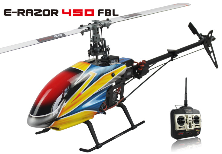 E razor 450 flybarless h licopt re rc lectrique version for Helicoptere rc electrique exterieur