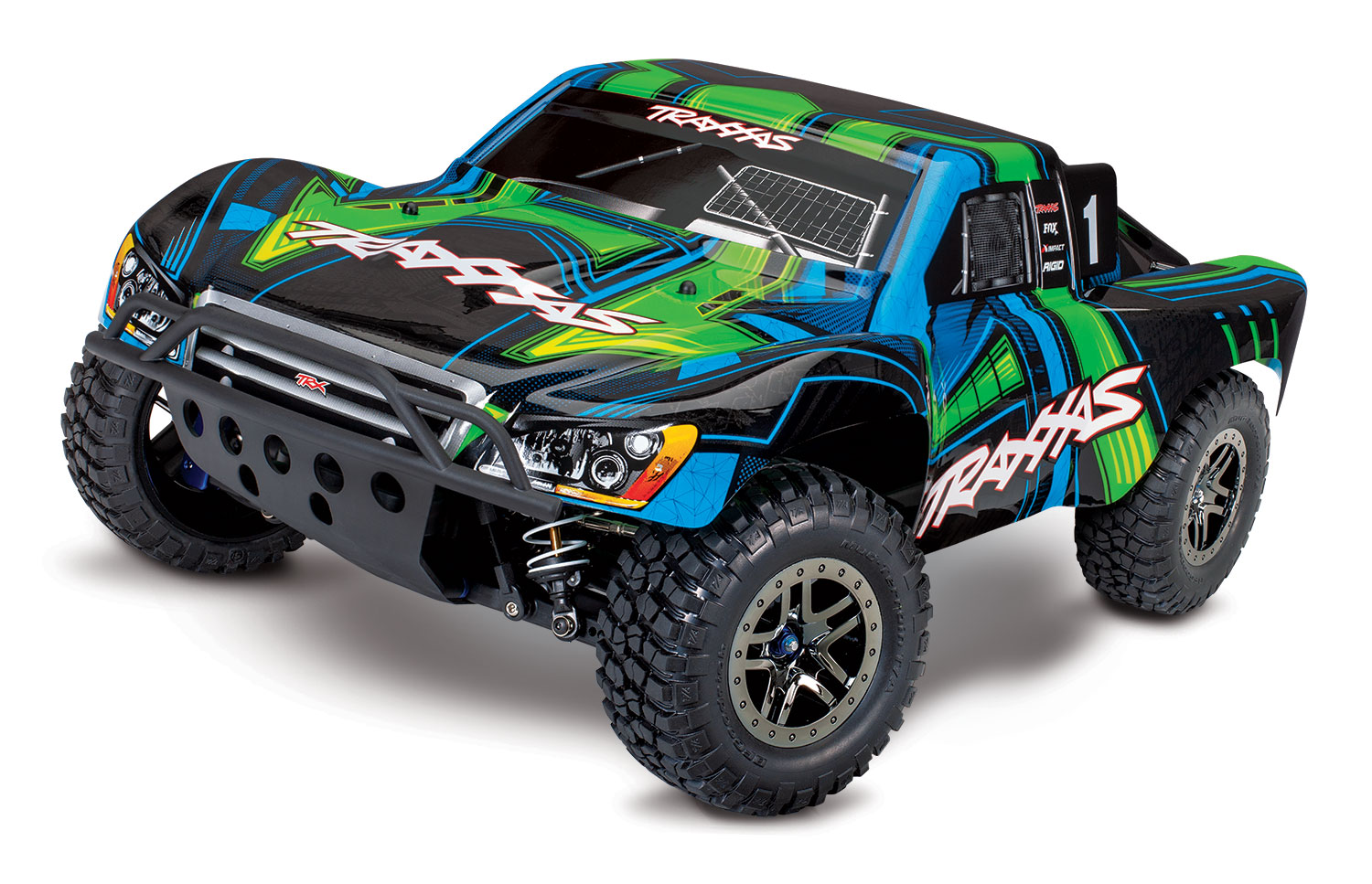 PACK TRAXXAS SLASH - 4x4 ULTIMATE - ORAN - 1/10 BRUSHLESS - iD - TSM - 2 LIPO 3S et CHARGEUR