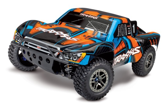 TRAXXAS SLASH - 4x4 ULTIMATE - ORAN - 1/10 BRUSHLESS - iD - TSM - SANS AQ/CHG