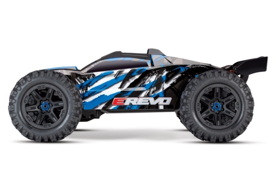 PACK TRAXXAS E-REVO - 4x4 - BLEU - 1/10 BRUSHLESS - TSM - VERSION 4S/CHARGEUR