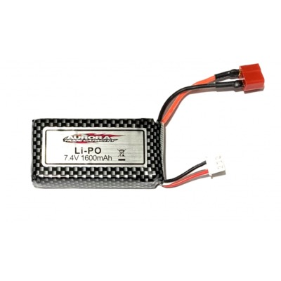 FTK-MT-TWIN-39 Batterie Lipo 7,4V 1600 mah FUNTEK MT-TWIN