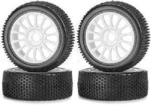 Roues buggy 1/8 blanc (4)