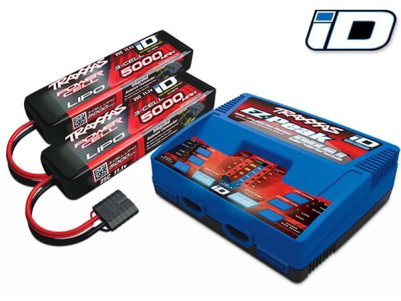 PACK TRAXXAS E-REVO - 4x4 - BLEU - 1/10 BRUSHLESS - TSM - VERSION 6S/CHARGEUR